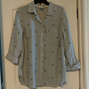 Bee Print Classic Shirt